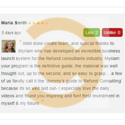create australia refund consulting program business review by maria smith