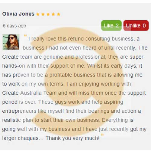 create australia refund consulting program business review by olivia jones